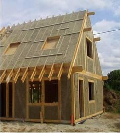 Construction d'une maison en chanvre bio