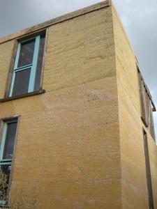 Maison construite à base de béton de chanvre bio